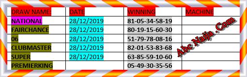 Find premier lotto result