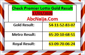Check premier lotto gold result