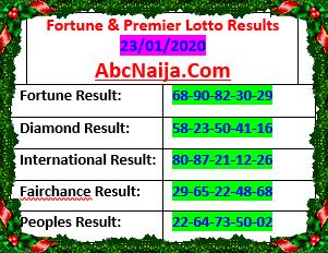 Fortune & premier lotto results