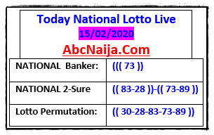 Today's national lotto Live