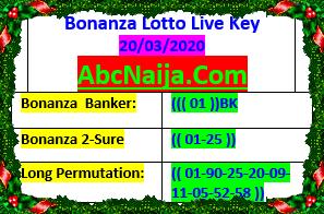 Bonanza lotto live key