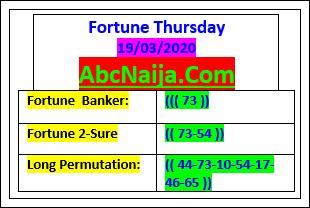THURSDAY FORTUNE BANKER