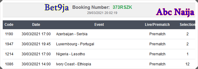 Correct fixed matches today